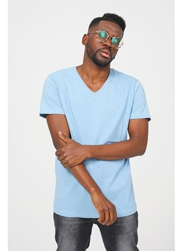 Modaplaza Erkek Tişort Mavi Mavi